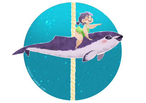 Cetacean Carousel - Spectacled Porpoise by Cindacry