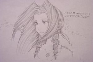Aeris_Aerith Gainsborough by Nogardinmo