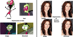 Expressions of Zim and Kristen Stewart by hannahweasley12