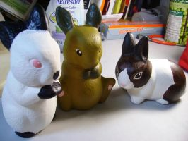 Bunnies in Ceramic by Fyuvix