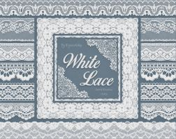 White Lace Borders by DigiWorkshopPixels