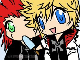 Axel+Roxas+seasalt ice by Kawaii-Lisa-chan