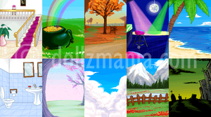 pixel backgrounds by Blumina