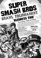 ACT Smash Tournament poster by K-6