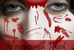 Wounds n Blood Brushes by missedyn