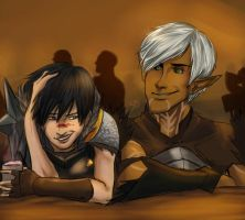 Out with Fenris by ScarletDusk