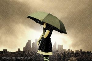 On a raining day by MagicalPictureMaker
