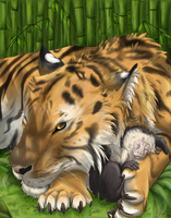 Tiger and Monkey by CuteKillerDog