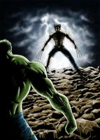 Hulk vs Wolverine colors by TuaX