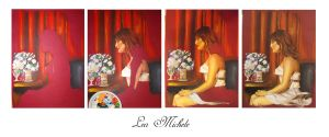 Lea michele story paint by Galapagos23