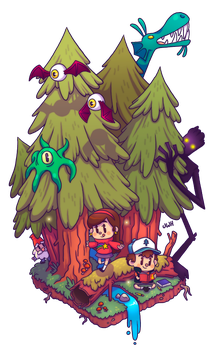 mystery forest by junawashere