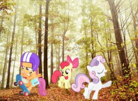 The Cutie Mark Crusaders in the Park by PPYFMLP