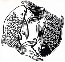 Tattoo Flash-InYo Koi by KinjouTen
