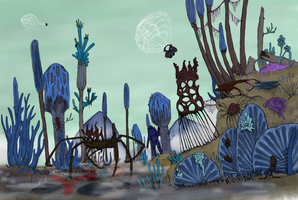 Land of the fungus by Dragonthunders