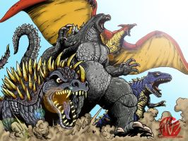 Kaiju Team EAT YO FACE Color version. by LordGandulfo88
