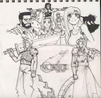 Final Fantasy sketch by Magilla-da-Killah