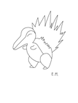 Collab - Cyndaquil by Gallerica