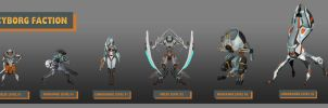Cyborgs Faction Concepts of the units by Keleus