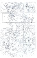 Succubus Comic Transformation Page Pencils by John-Curtis-Ryan