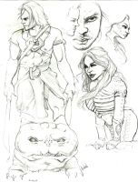 John Carter Sketches by ayelid