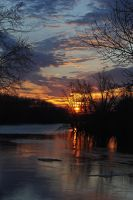 sunset on the river by LucieG-Stock