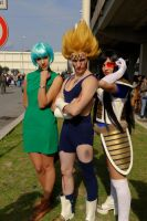 Bulma, Vegeta and crossplay Vegeta by KillerGio