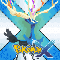 Pixel art Pokemon X cover by TurtleBit