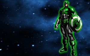 Green Lantern Captain America by 666Darks