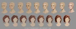 Head + Hair Steps (HQ Download Availible) by M00NBRUSH
