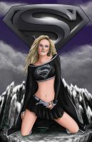 Supergirl Black by OneStarGraphics