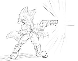 blasting it up with the starfox by theblazingfoxes