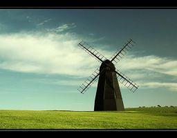 windmill in colour by nnoik