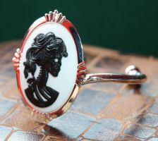 Skull cameo bracelet cuff by Pinkabsinthe