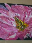 Pink Petal  Frenzy Acrylic  painting by designdiva3