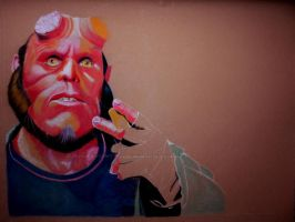 Hellboy WIP 2 by WitchiArt