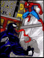 Spidey and Venom. by Art-of-the-Seraphim