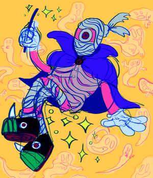 magic mummy monster girl by robotboxers