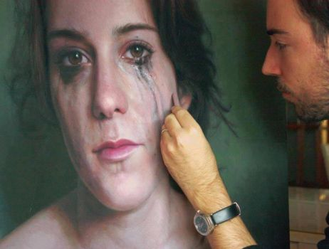 Hyperrealistic painting by Ruben Belloso Adorn by AymenB