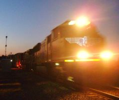 UP Southbound With BC Rail Unit by SwiftWindSpirit