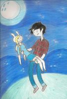 Fionna and Marshall Lee by AlexisM96