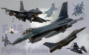 F-16 collage wallpaper by redtailhawker