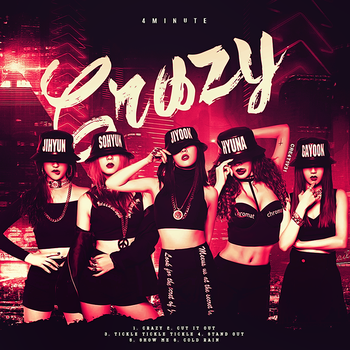 4Minute - Crazy (Fan Made Album Cover) by Cre4t1v31