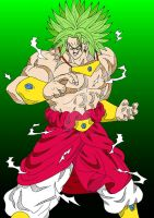 Dragon Ball Z - Broly LSSJ2 by Cheetah-King