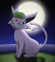 Espeon in the Moonlight by DreamyNormy