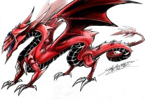 Slifer the Sky Dragon Ink by slifertheskydragon