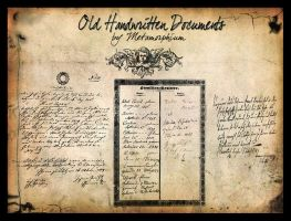 Old Documents Handwritten by Metamorphium