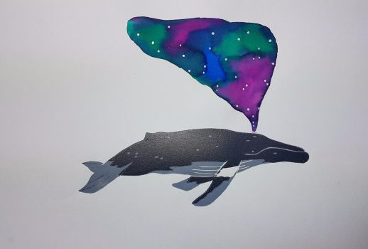 Space Whale by AllieTutt