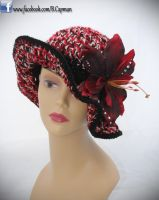 Crochet Flapper Hat with Lilly Clip by LittleShopOfLostArts