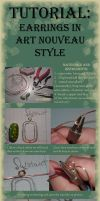 Tutorial earrings in art nouveau style by Tegero