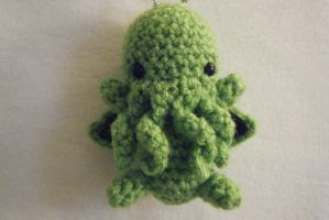 (Cute)thulhu Crocheted Keychain by yourstarrysky